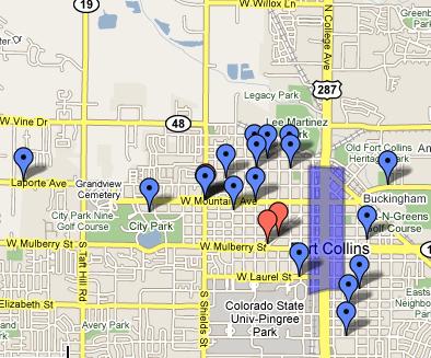 Map of neighborhood markets