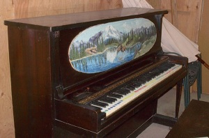 Brinkhoff painting on piano