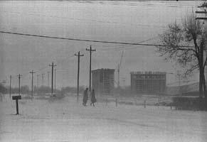 Dorms under construction 1967