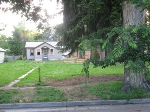 223 Park St. Tree in foreground was brought to property from Rist Canyon by original owners.